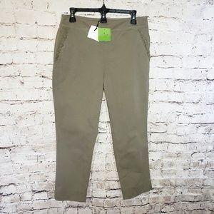 NWT Kate Spade Slim Straight Chino Capri Pants